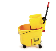 Wavebrake 35 Qt Side Press Bucket and Wringer with Drain