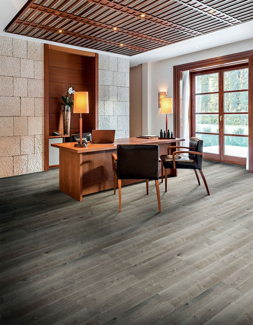 Made to look like the real thing, vinyl raw wood floors are an excellent flooring alternative for any office looking to rethink its interior space design.