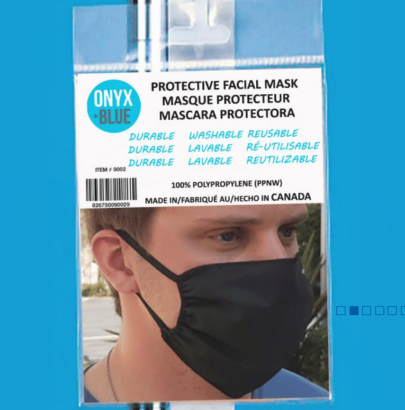 Onyx and Blue Protective Facial Mask